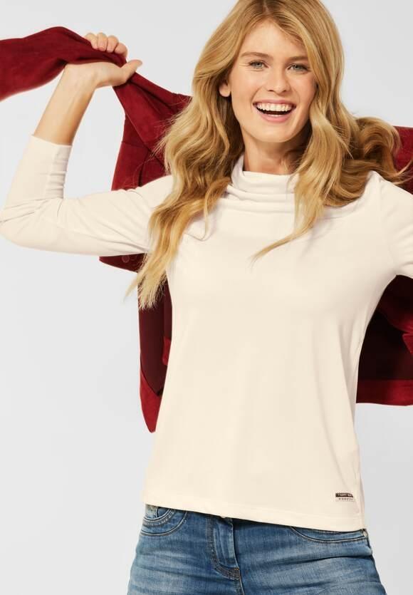 CECIL | T-Shirt mit Turtleneck | Farbe: birch white 13209, 316931