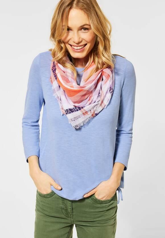 Cecil | Strukturiertes Basic Shirt | Farbe: quiet blue 12824, 315928