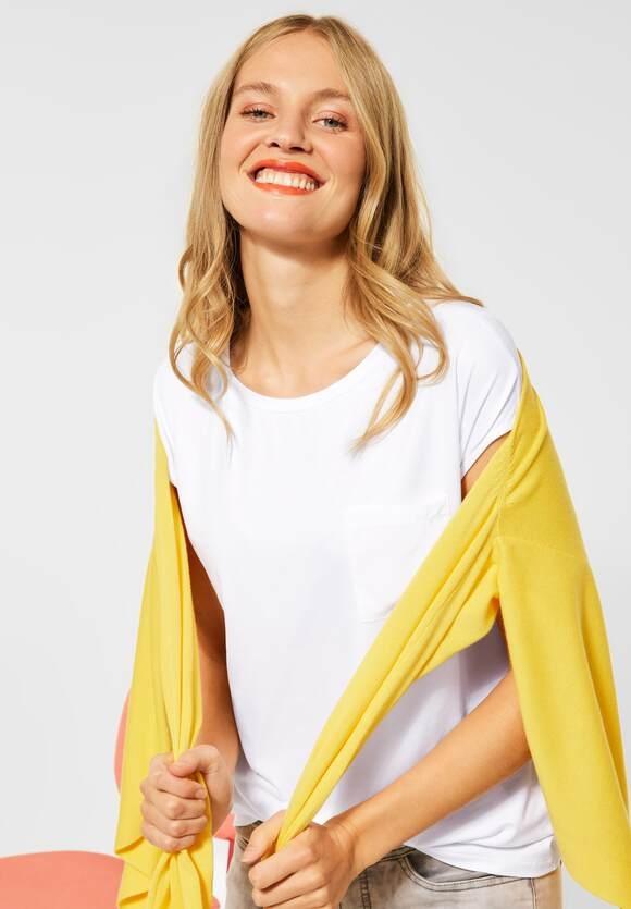 Street One | T-Shirt mit Raffungen | Farbe: white 10000, 316195