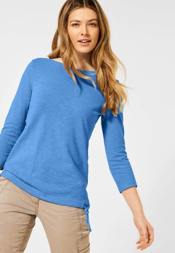 Cecil | Strukturiertes Basic Shirt | Farbe: provence blue 12865, 315986
