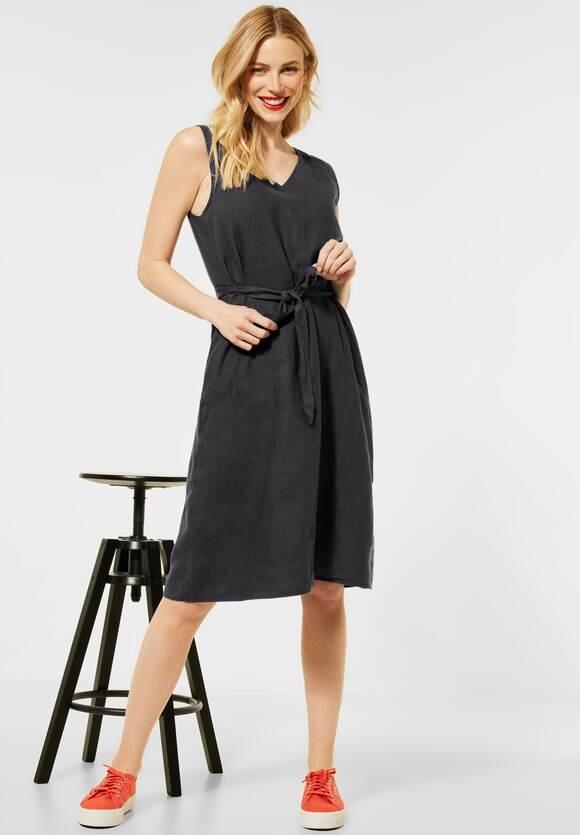 Street One | Kleid aus Leinen | Farbe: magnet grey 12820, 142880