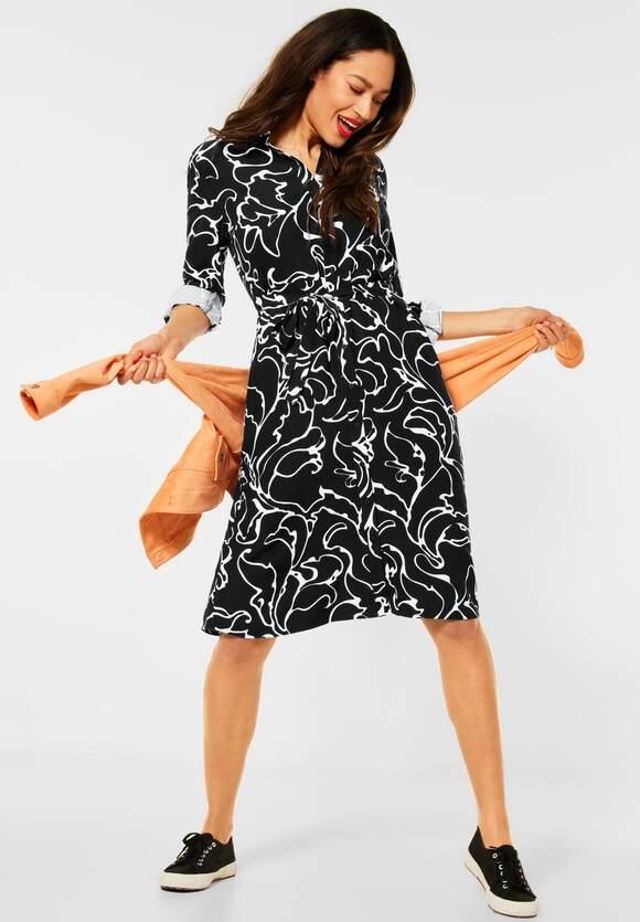 Street One | Kleid mit Print | Farbe: black 20001, 142889
