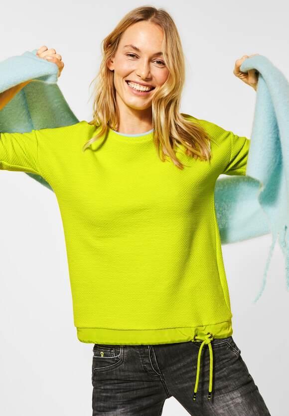 Cecil   Uni-Shirt in Struktur-Optik   Farbe: nordic yellow 12595, 315653