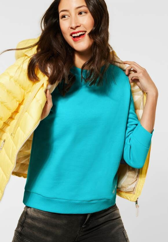 Street One | Cosy Sweatshirt in Unifarbe | Farbe: shining aqua 12854, 315930