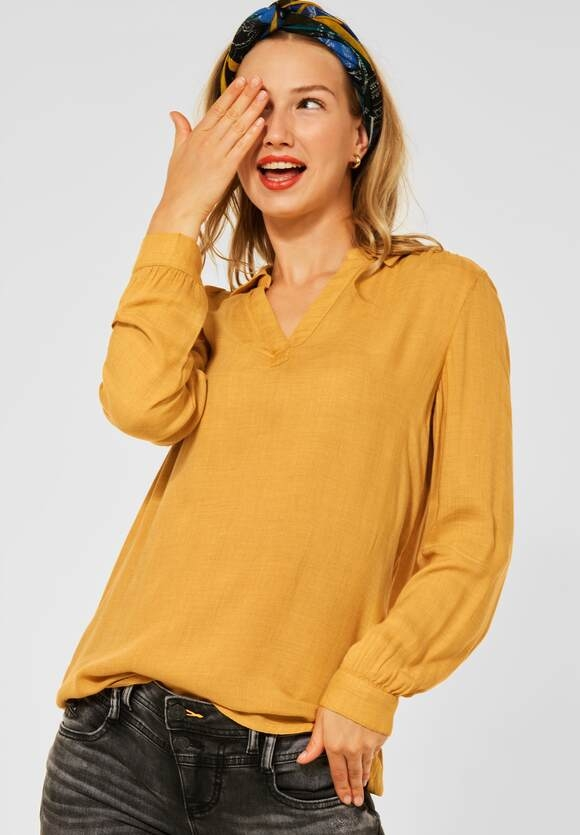 Street One   Bluse in Melange Optik   Farbe: knit sulphur yellow 13217, 342783