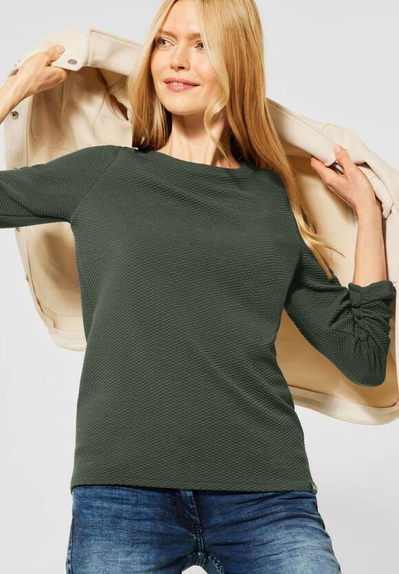 Cecil | Shirt in Struktur-Optik | Farbe: soft khaki 12646, 315847