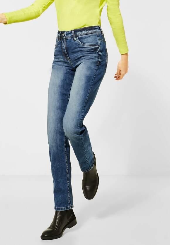"Cecil   Straight Leg Denim ""Toronto""   Farbe: mid blue wash 10283, 373600"