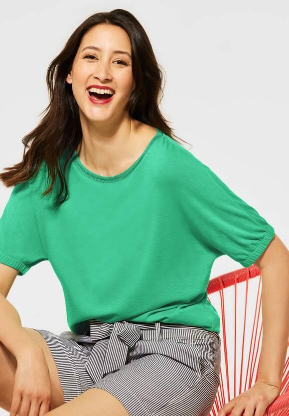 "Street One | T-Shirt ""Edona"" in Unifarbe | Farbe: yucca green 12982, 316290"