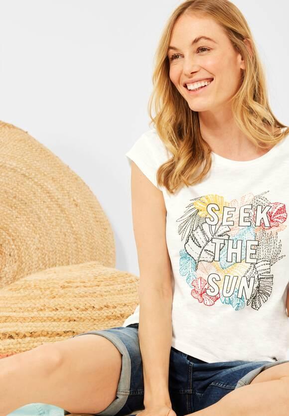 Cecil | T-Shirt mit Print | Farbe: pure off white 30125, 316467