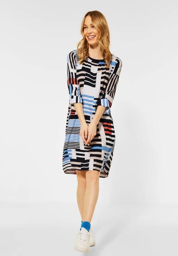 Cecil   Kleid mit Streifen Muster   Farbe: deep blue 30128, 142899