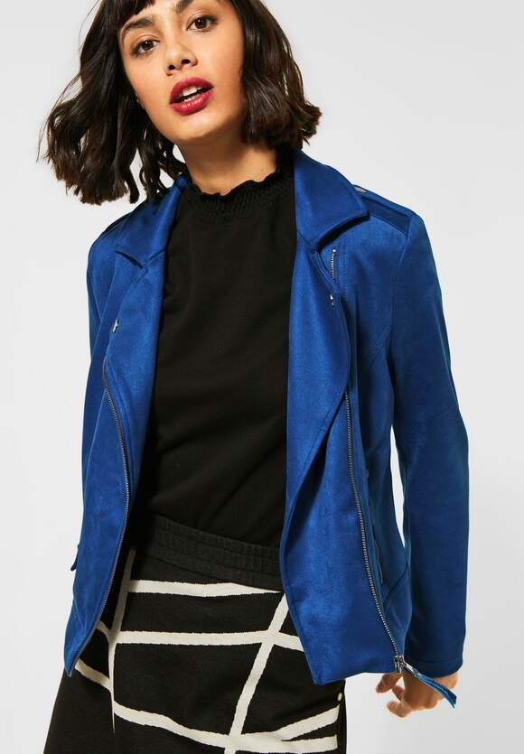 Street One   Fake Veloursleder-Jacke   Farbe: cobalt blue 11784, 211275