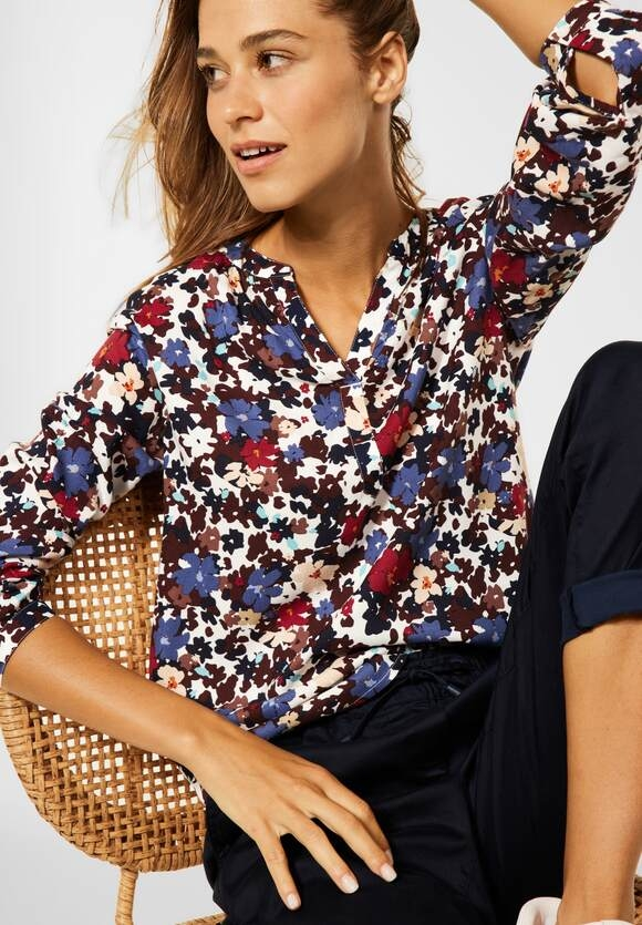 CECIL   Bluse mit Blumen Print   Farbe: pure off white 30125, 342823