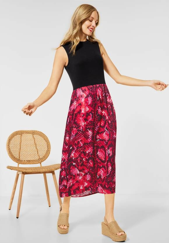 Street One | Kleid im Materialmix | Farbe: spice red 33053, 142949
