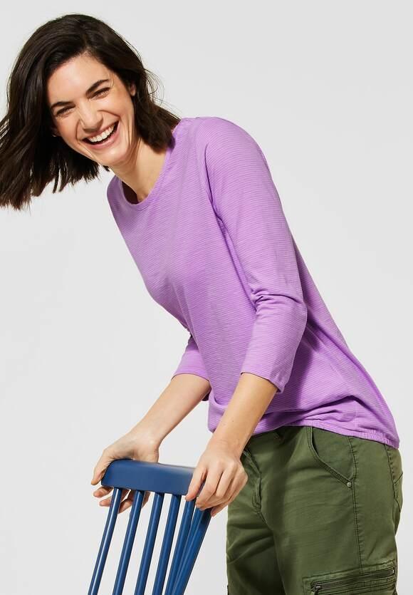 Cecil | Shirt mit 3/4-Ärmeln | Farbe: soft violet 22746, 315786