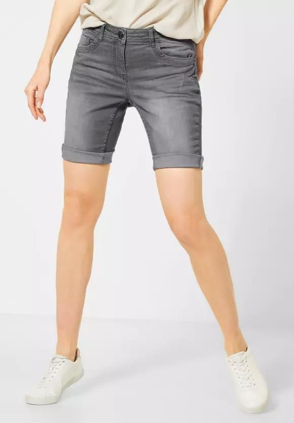 "Cecil | Graue Denim-Shorts ""Scarlett"" 