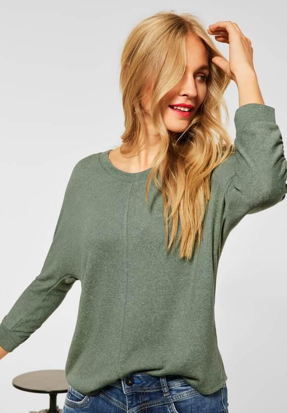"Street One | Basic Shirt ""Ellen"" mit Raffung | Farbe: frosty green 13392, 316888"