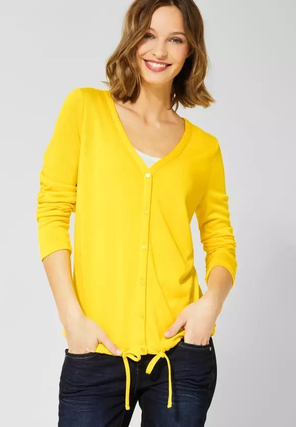 Street One | Strickjacke | Farbe: shiny yellow 12201, 314643