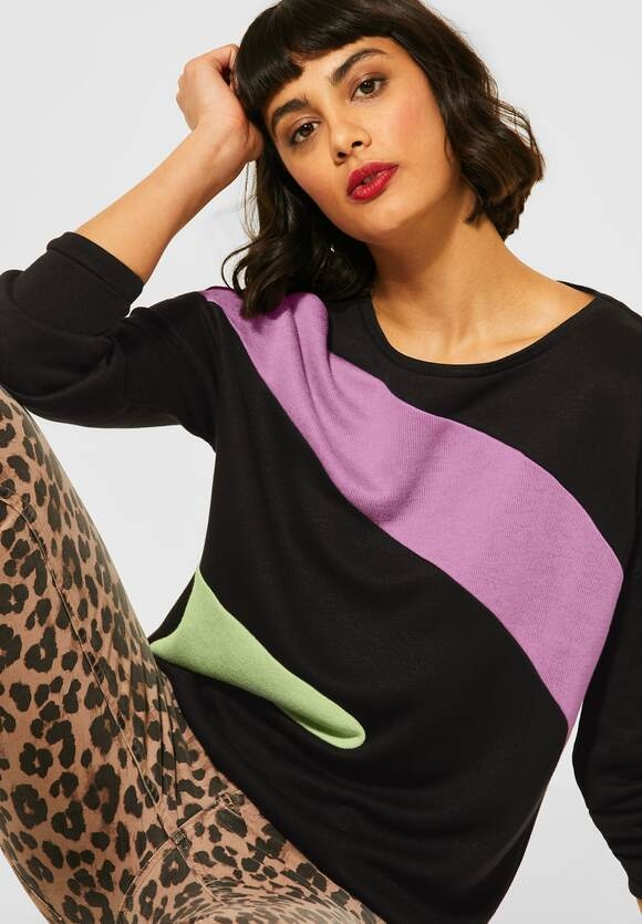 Street One | Shirt mit Colourblock | Farbe: black 30001, 315743