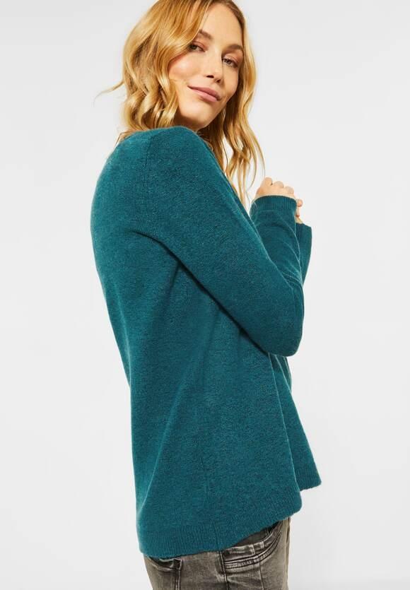 Cecil | Kuscheliger Strick-Pullover | Farbe: multi atlantic green 12805, 301367