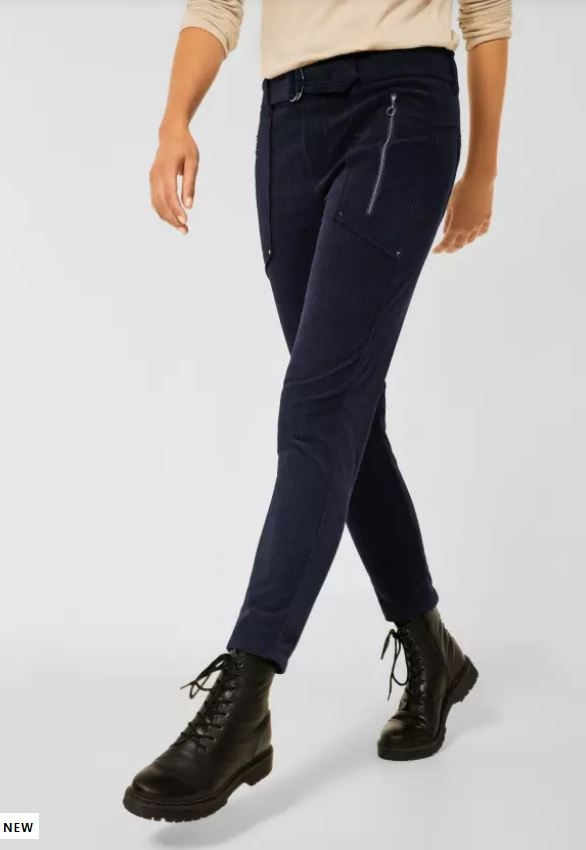 """Street One   Loose Fit Cord Hose """"Bonny""""   Farbe: corduroy blue 13341, 374463"""