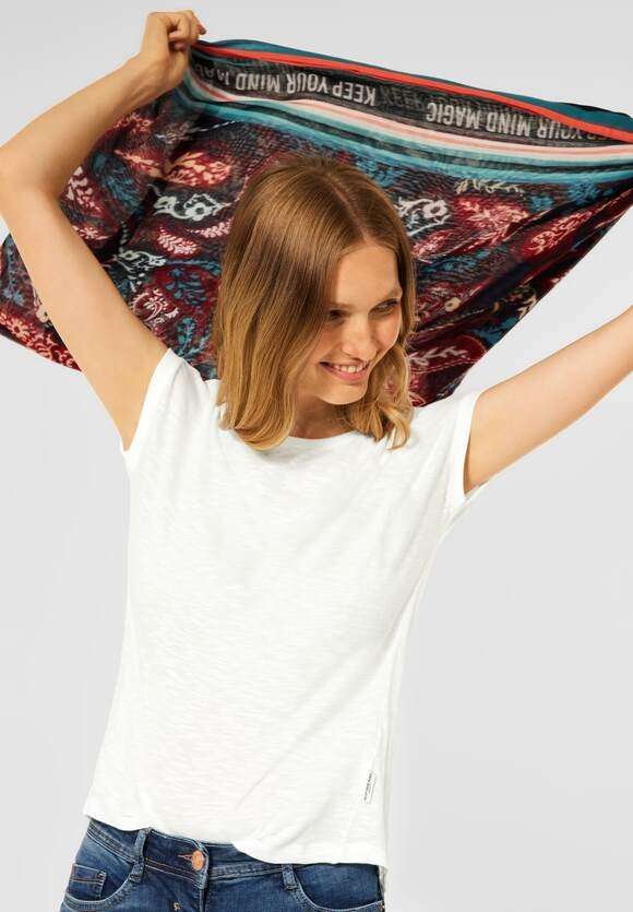 CECIL   T-Shirt in Unifarbe   Farbe: pure off white 10125, 316747
