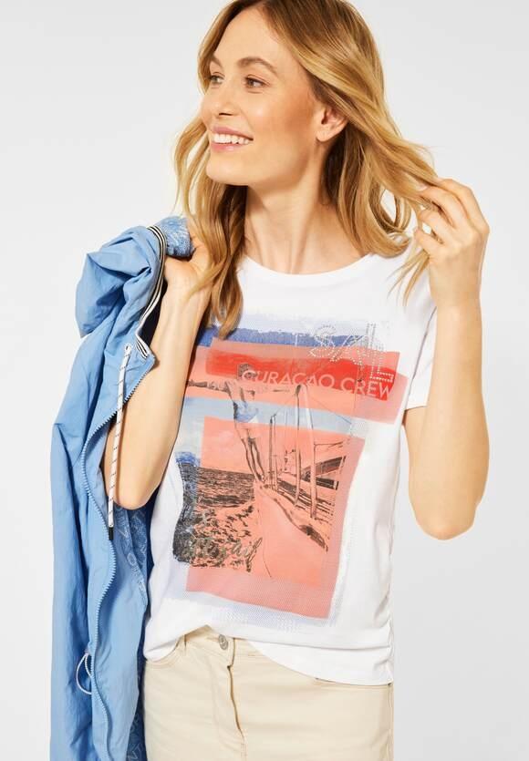 Cecil | T-Shirt mit Sail-Print | Farbe: pure off white 30125, 316063