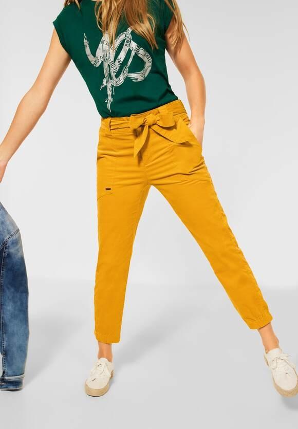 "Street One   Hose ""Bonny"" mit Gürtel   Farbe: sulphur yellow 13165, 374385"