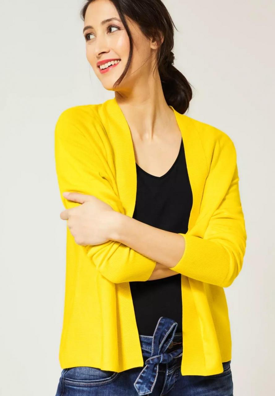 Street One   Strickjacke im Basic Style   Farbe: shiny yellow 12201, 253028