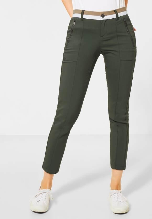 Street One | Slim Fit Hose im Cargo-Style | Farbe: misty green 12441, 373357