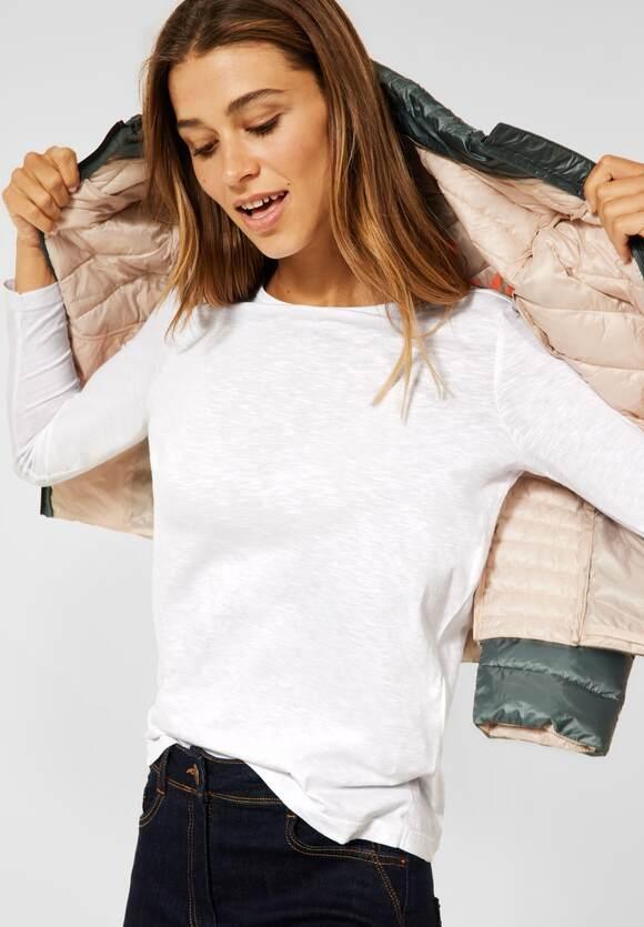 CECIL   Basic T-Shirt im neuen Style   Farbe: pure off white 10125, 316926