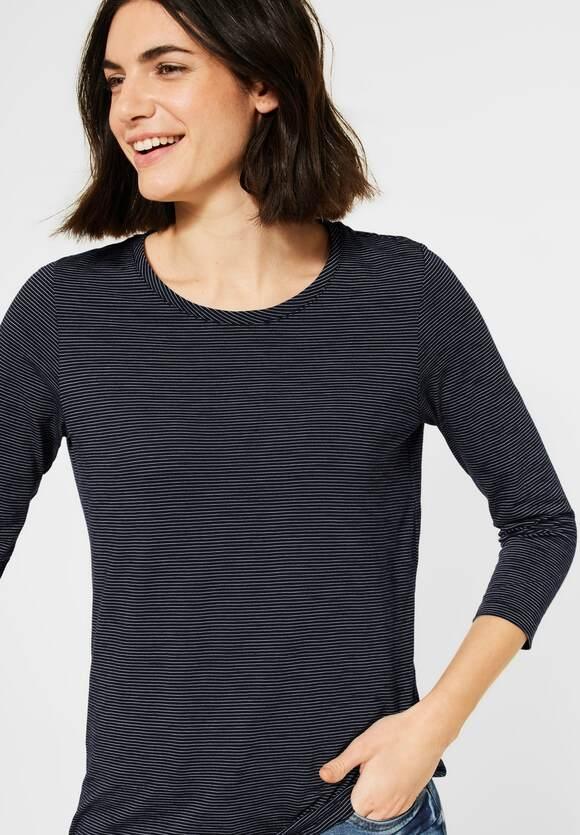 Cecil | Shirt mit 3/4-Ärmeln | Farbe: deep blue 20128, 315786
