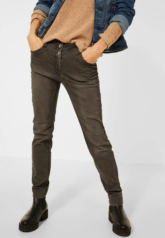 """CECIL   Casual Fit Hose """"Gesa""""   Farbe: toffee brown 23294, 374449"""
