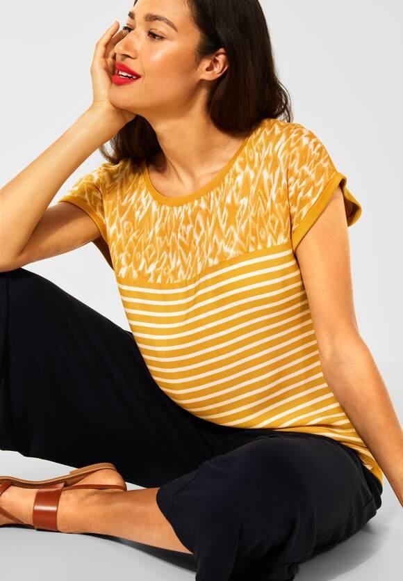 Street One   T-Shirt mit Printmix   Farbe: sulphur yellow 33165, 316668
