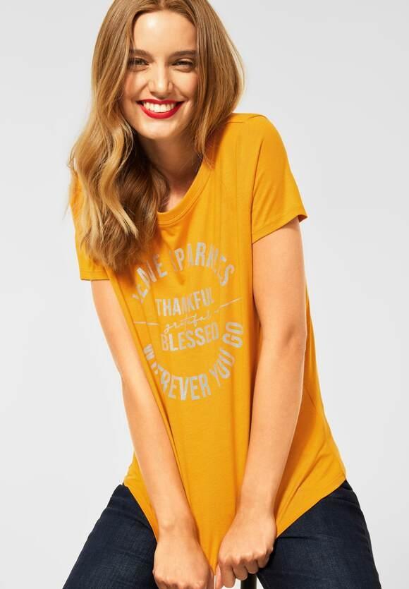 Street One   T-Shirt mit Partprint   Farbe: sulphur yellow 23165, 316801