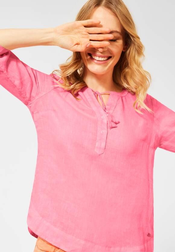 Cecil   Leinen Bluse in Unifarbe   Farbe: soft neon pink 12735, 342462