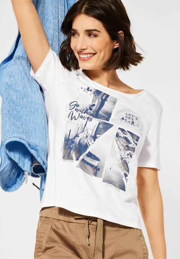 Cecil | T-Shirt mit Fotoprint | Farbe: pure off white 30125, 316038