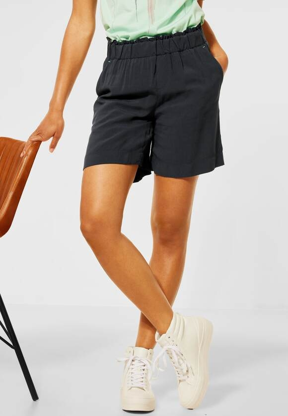 Street One   Loose Fit Shorts in Unifarbe   Farbe: neo grey 11017, 374058