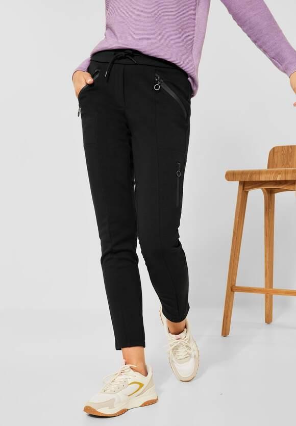 "CECIL   Casual Fit Hose ""Tracey"" mit Zipper   Farbe: black 10001, 374576"