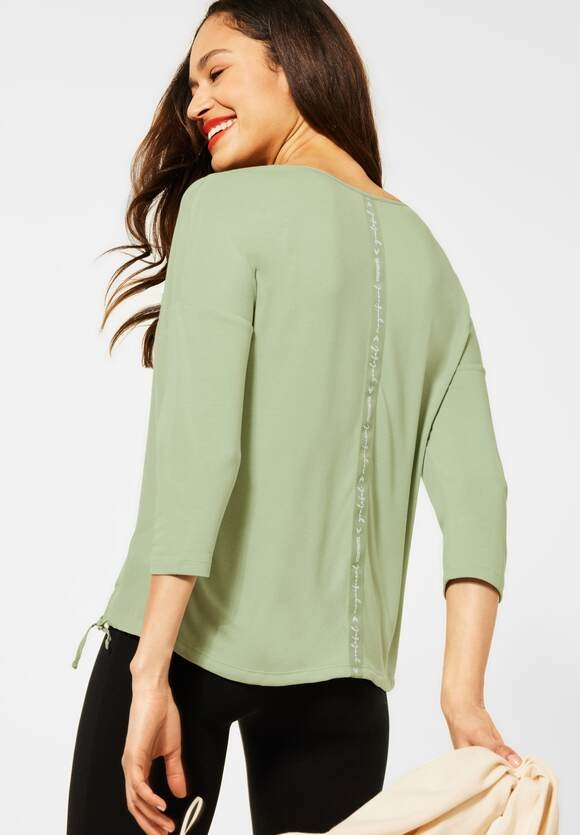 Street One   Shirt mit V-Ausschnitt   Farbe: faded green 12902, 316016