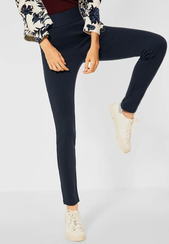 """CECIL   Slim Fit Hose in Inch 30 """"Vicky""""   Farbe: deep blue 10128, 374372"""