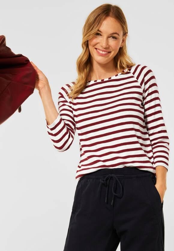 CECIL | T-Shirt mit Streifen Muster | Farbe: copper brown 23160, 316737