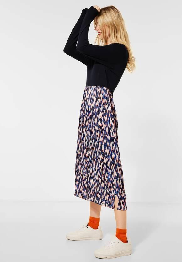 Street One | Midi-Kleid mit V-Ausschnitt | Farbe: dark blue 32552, 142866