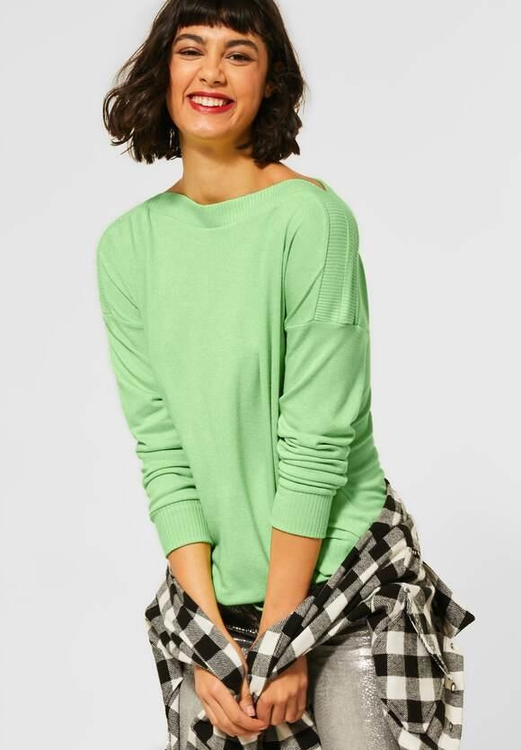 Street One   Shirt mit U-Boot Ausschnitt   Farbe: sunny lime mel 12687, 315738