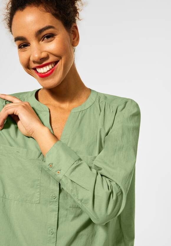 Street One   Bluse in Unifarbe   Farbe: faded green 12902, 342555