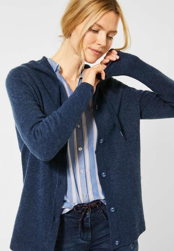 Cecil   Cardigan aus Flex Knit   Farbe: middle blue mel 12581, 253095