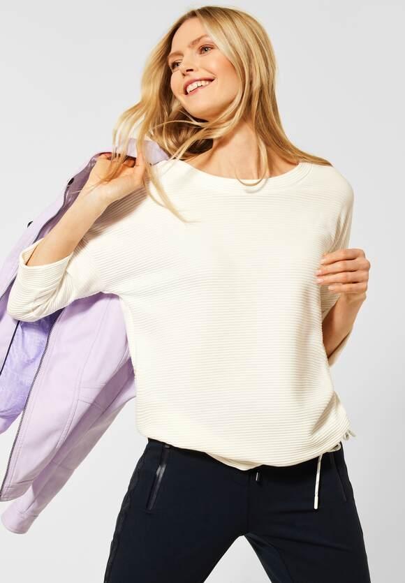 Cecil | Shirt mit Ottoman-Struktur | Farbe: pure off white 10125, 316057