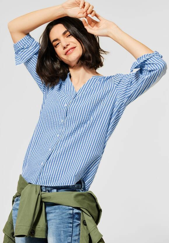 Cecil | Bluse in Seersucker | Farbe: bluebell 22745, 342426