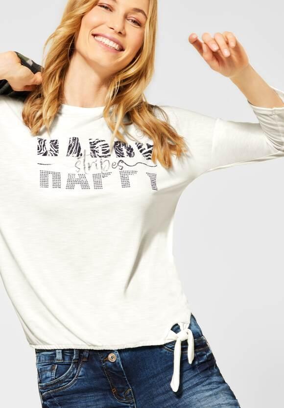 Cecil   Shirt mit Schimmer-Print   Farbe: pure off white 30125, 315935