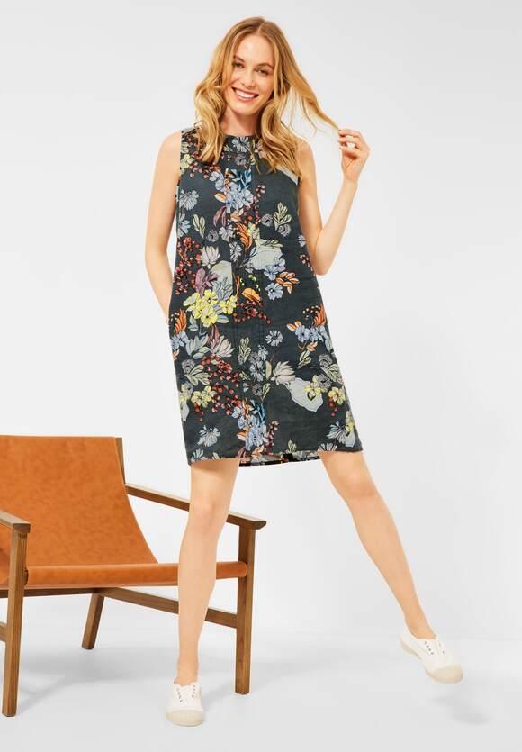 Cecil | Kleid mit Blumenprint | Farbe: slate green 31687, 142855