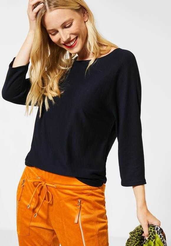 Street One | Shirt mit Fledermausärmeln | Farbe: dark blue 12552, 315260